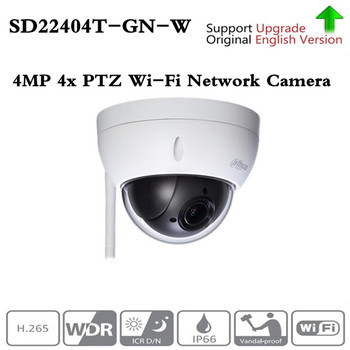 Orijinal ahua İngilizce Brand-SD22404T-GN-W WiFI IP 4MP HD Ağ Mini PTZ Dome 4x optik zoom kablosuz IP kamera SD22404T-GN-W