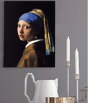 Canvas painting portrait picture figurative prints poster art Imagich Top 100 prints Johannes Vermeer girl with a pearl earring